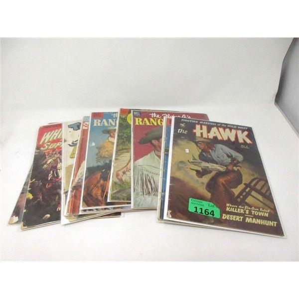 10 Vintage 10¢ Comics - Cowboys Heroes