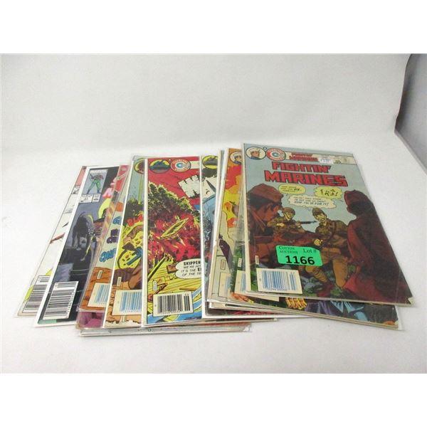 12 Vintage US and UK War Comics 12P to $1.00