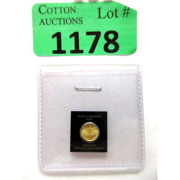 2021 Canada .9999 Fine Gold Maplegram Coin