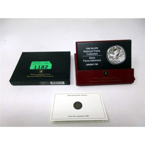 """2005 Canadian Fine Silver """"National Parks"""" $20 Coin"""