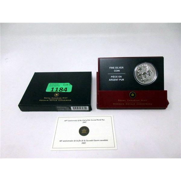 "2005 Canada Fine Silver ""Victory at Last"" $5 Coin"