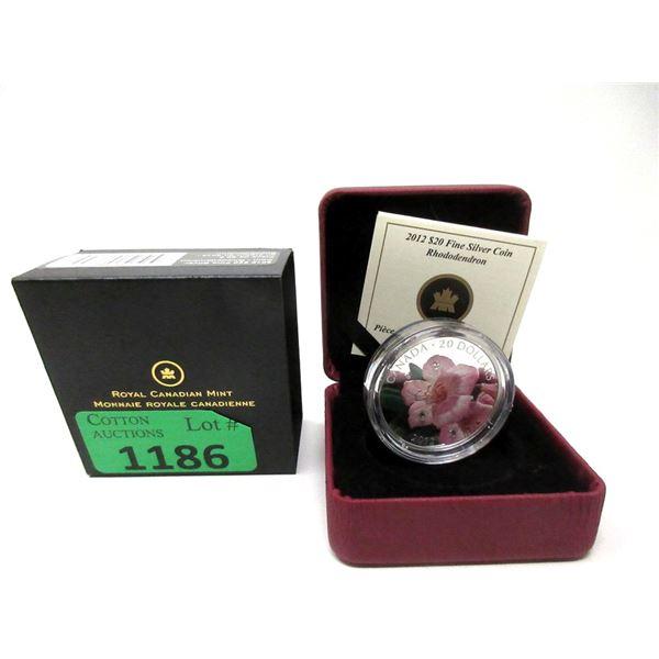 2012 Canada Fine Silver Rhododendron $20 Coin