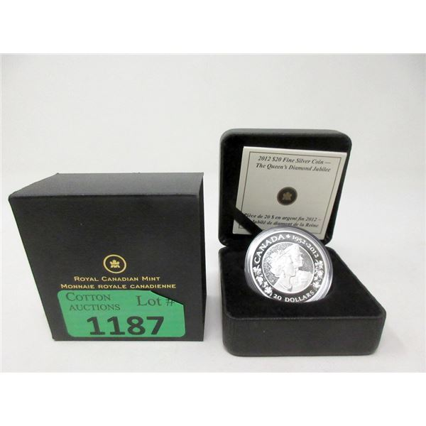 2012 Canadian .9999 Fine Silver $20 Coin