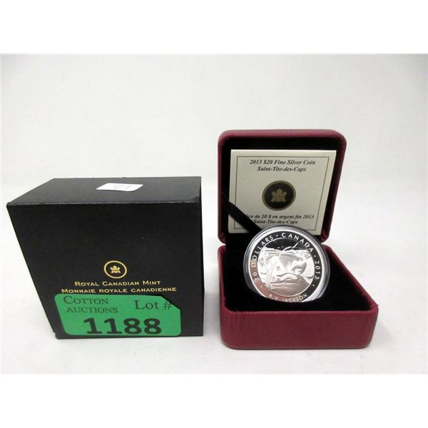"2013 Canadian Fine Silver ""A. Y. Jackson"" $20 Coin"