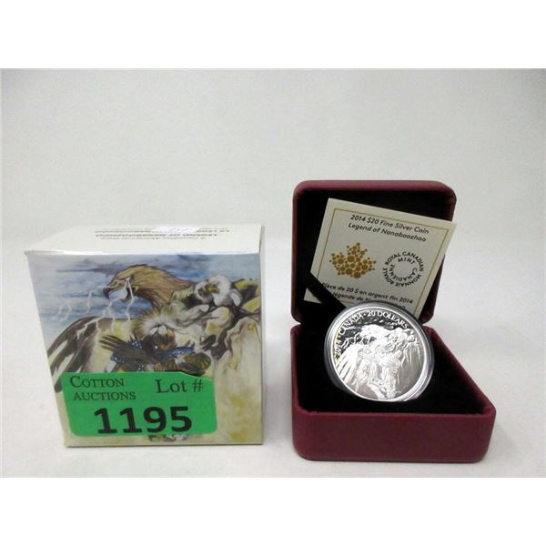 2014 .9999 Fine Silver 1 Oz. Canadian $20 Coin