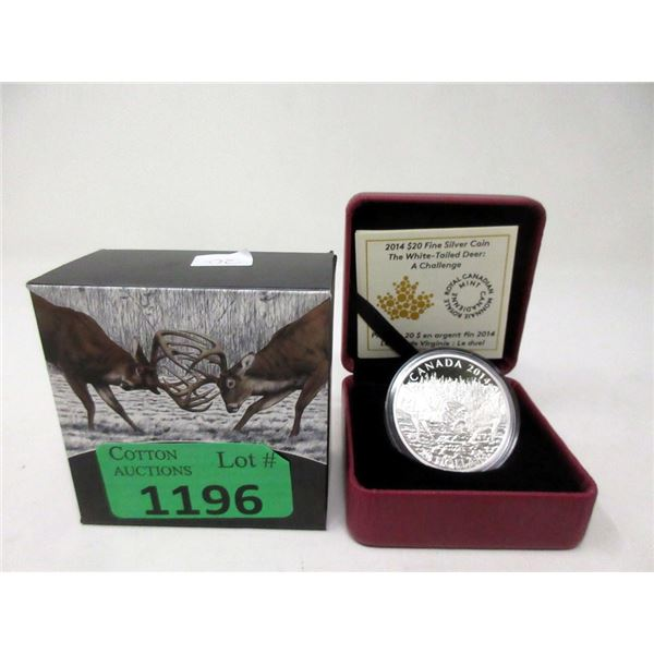 2014 .9999 Fine Silver Canadian $20 Coin