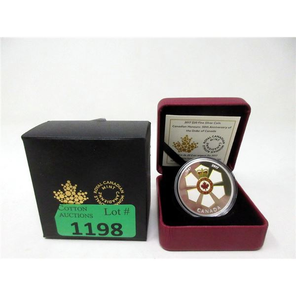 """2017 Fine Silver """"Canadian Honours"""" $20 Coin"""