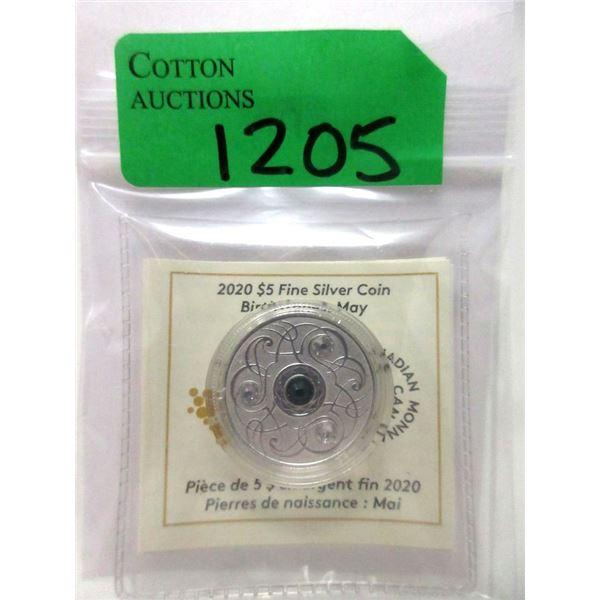 2020 Canada Fine Silver May Birthstone Coin