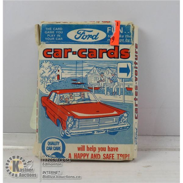 1965 FORD CAR CARDS