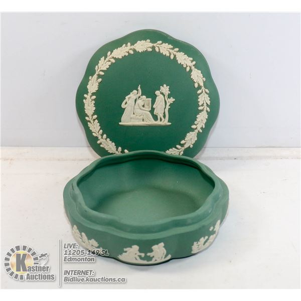 WEDGEWOOD DISH WITH LID POTTERIES