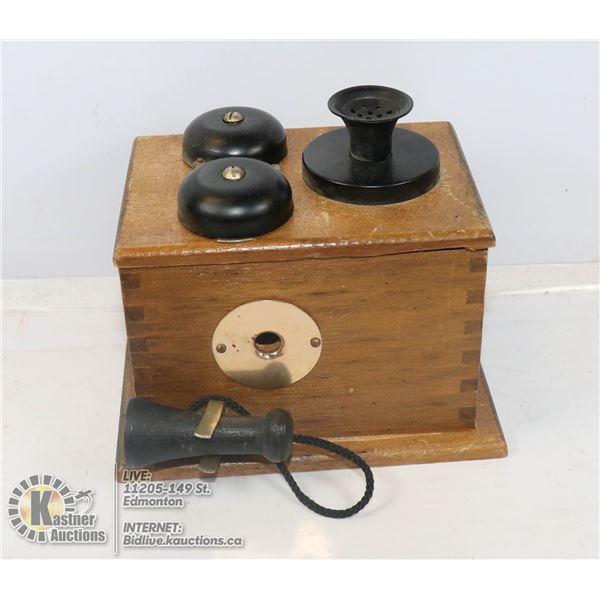 VINTAGE WALL PHONE STYLE PENCIL SHARPENER