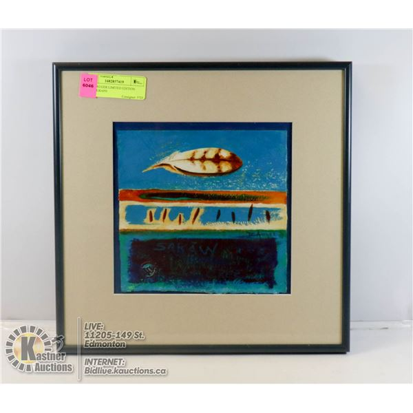 DALE AUGER LIMITED EDITION ART, 13 X 13