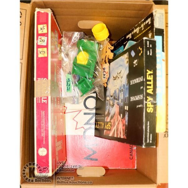 BOX OF ASSORTED VINTAGE BOARD GAMES