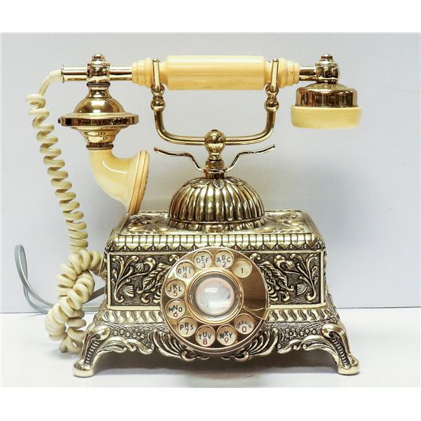 ANTIQUE STYLE ROTARY TELEPHONE ORNATE
