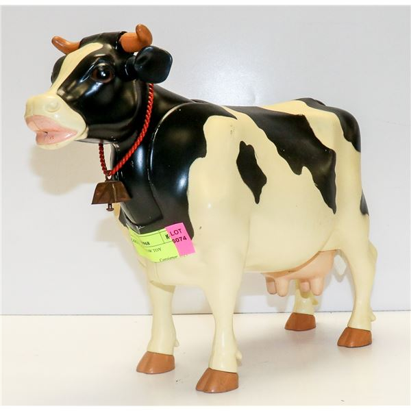LARGE PLASTIC COW TOY