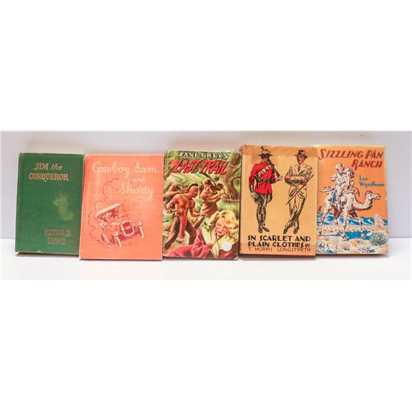 LOT OF VINTAGE WESTERN THEMED BOOKS