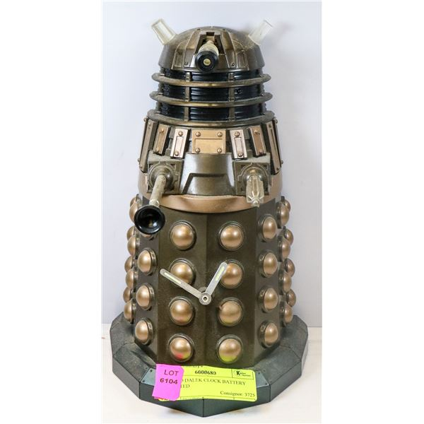DR WHO DALEK CLOCK BATTERY OPERATED