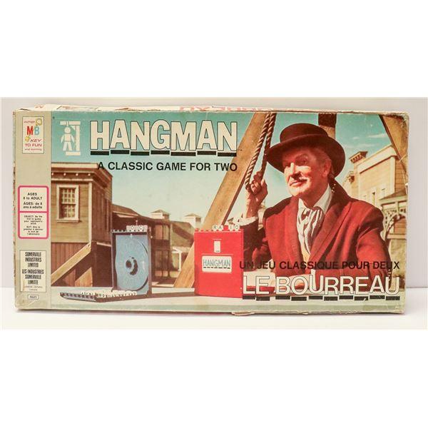 THE HANGMAN VINTAGE BOARD GAME