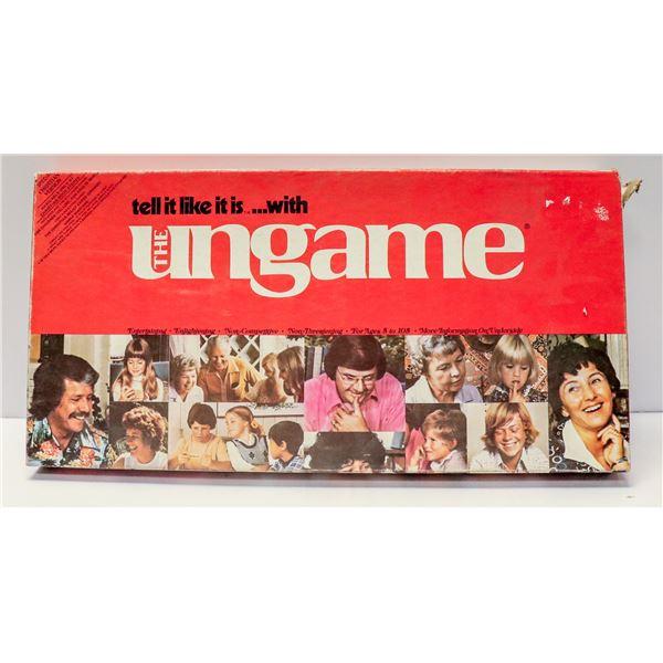 UNGAME BOARD GAME VINTAGE