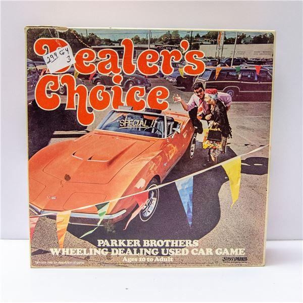 VINTAGE DEALERS CHOICE BOARD GAME