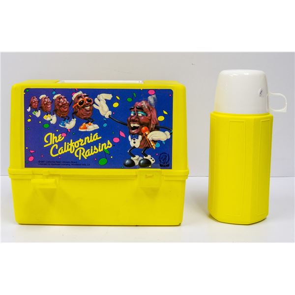 VINTAGE CALIFORNIA RAISINS LUNCH BOX WITH THERMOS