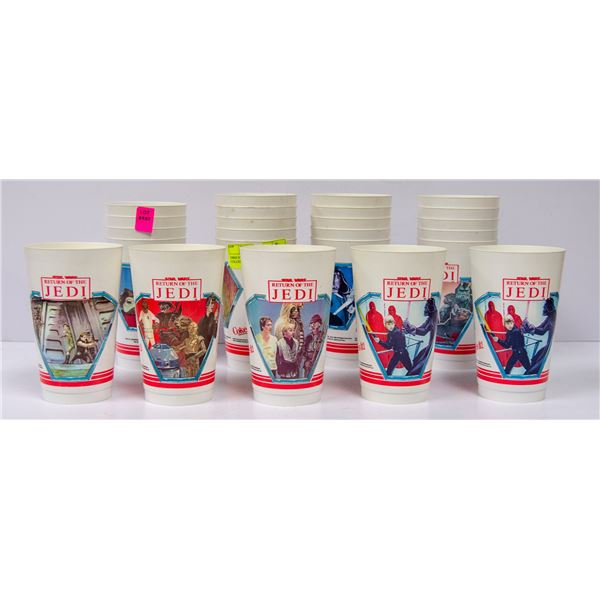1980S STARWARS 711 COKE CUPS COLLECTION
