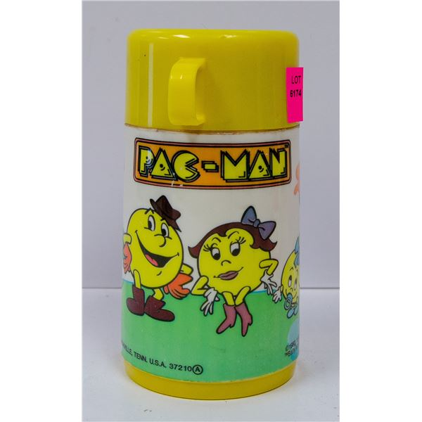VINTAGE PAC-MAN THERMOS