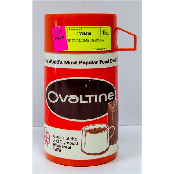 VINTAGE OVALTIME THERMOS