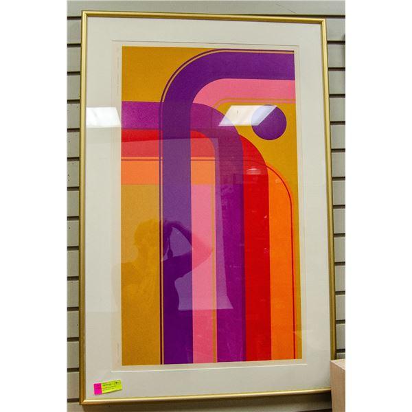 1972 SAMUELSON SERIGRAPH MODERN ART SIGNED 5/24
