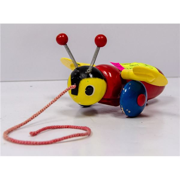 VINTAGE WOODEN BUSY BEE TOY
