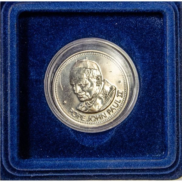 POPE JOHN PAUL 2 COLLECTIBLE COIN IN CASE
