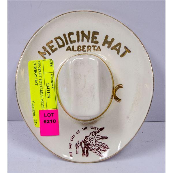 HYCROFT POTTERIES MEDICINE HAT COWBOY HAT