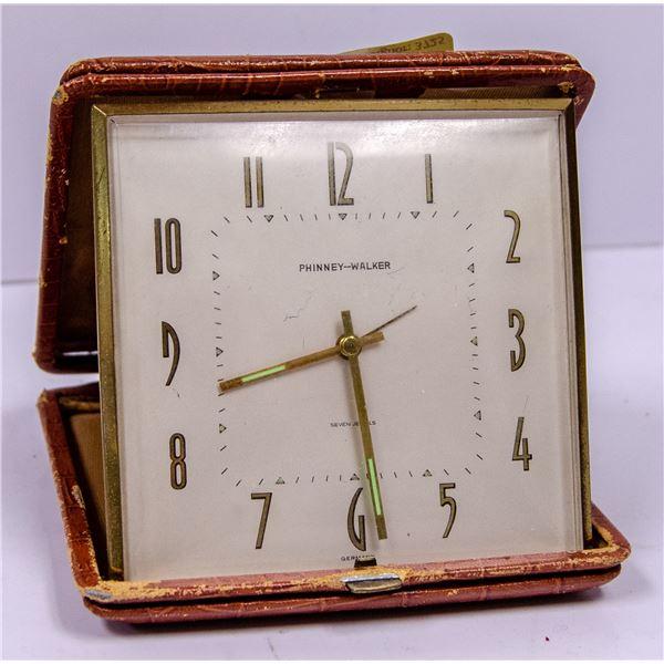LARGE PHINNEY WALKER PORTABLE CLOCK
