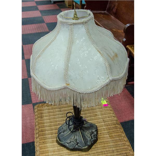 "ART NEAVEAU BRASS STYLE LAMP, 25"" TALL"