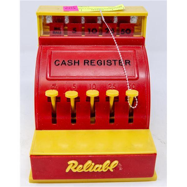 VINTAGE RELIABLE TOY CASH REGISTER