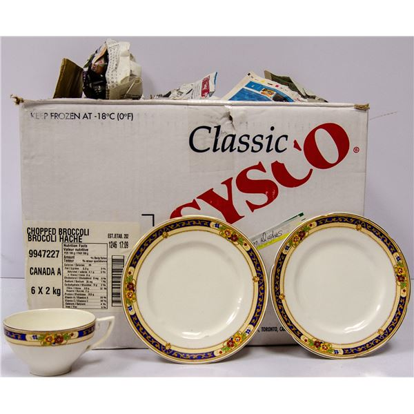 LARGE SET OF ANTIQUE CHINA IN TWO BOXES