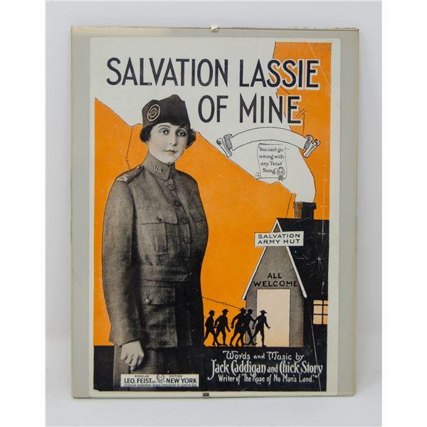 "ANTIQUE ORIGINALLY FRAMED ""SALVATION: LASSIE OF"