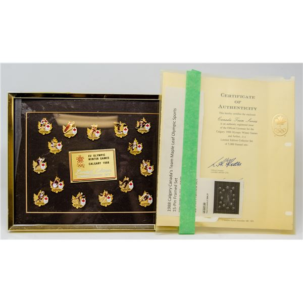 1988 CALGARY OLYMPIC COIN SET WITH COA