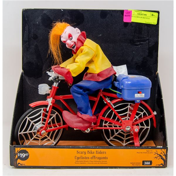 SCARY CLOWN ON BICYCLE