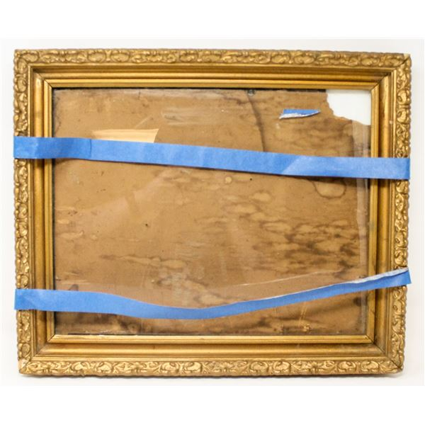 ANTIQUE ORNATE PICTURE FRAME WITH GLASS