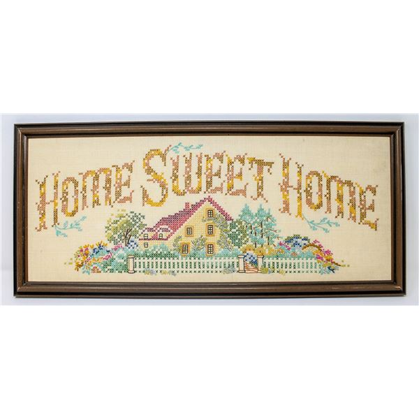 HOME SWEET HOME SAMPLER FRAMED