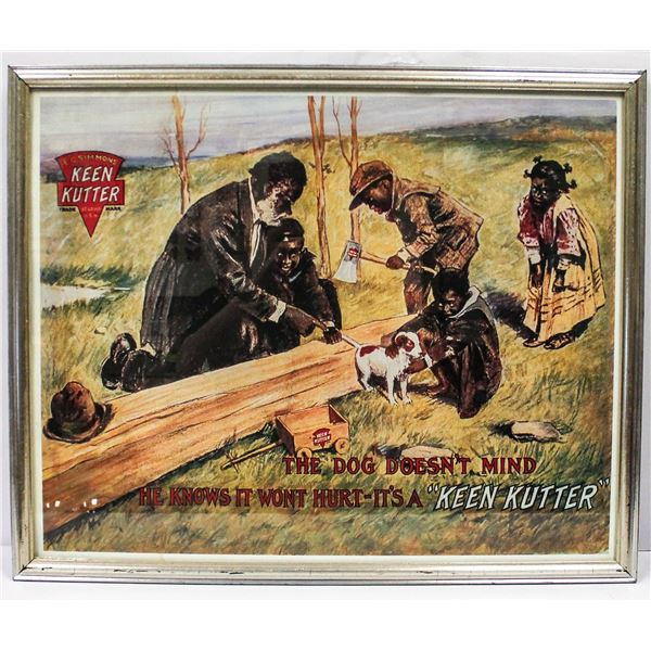 KEEN CUTTER TOBACCO PICTURE FRAMED BLACK