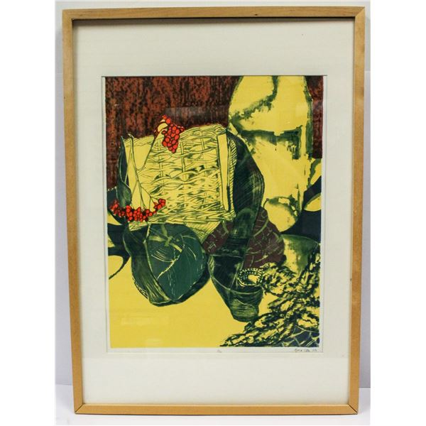 SIGNED SERIGRAPH BY TOTH YELLOW LIFE MATRIX