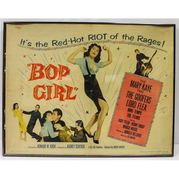 1950S BOP GIRL ROCK AND ROLL MOVIE POSTER RARE