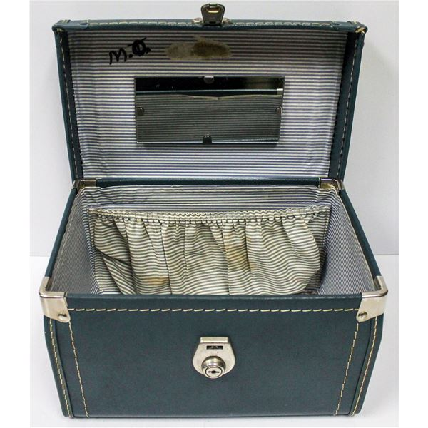 VINTAGE HARD SHELL SMALL TRAVEL SUITCASE