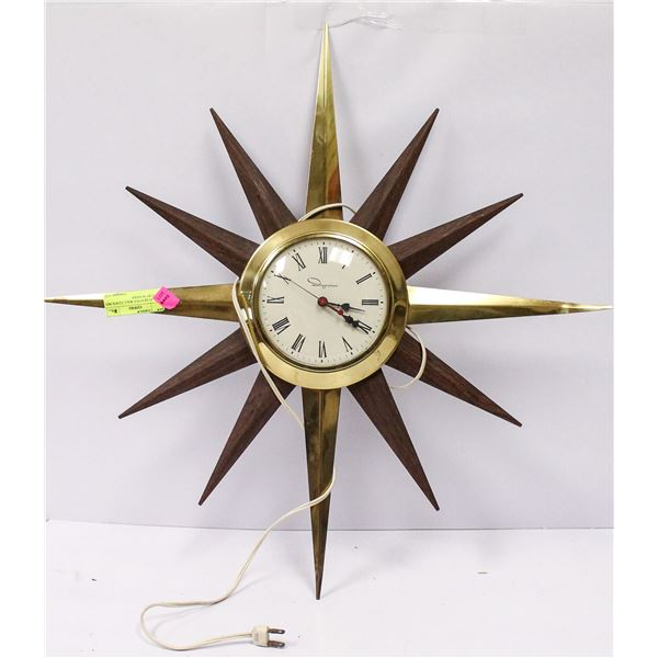 1950S STAR STYLE WALL CLOCK MID CENTURY MODERN