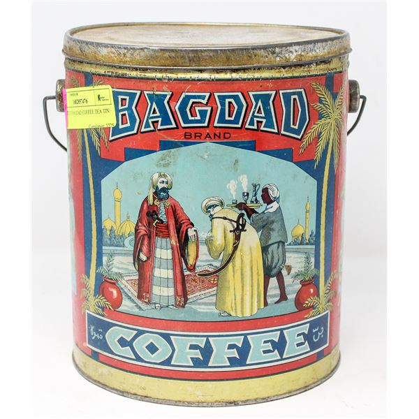 ANTIQUE BAGDAD COFFEE TEA TIN