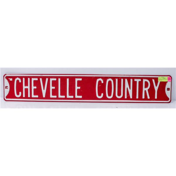 CHEVILLE COUNTRY HEAVY STEEL ROAD SIGN