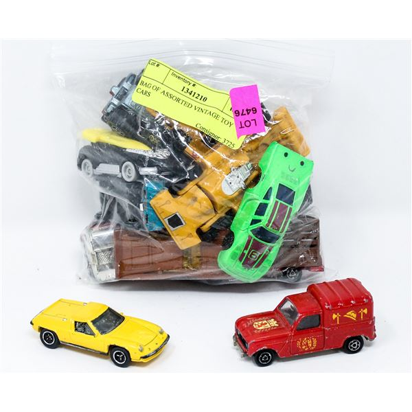 BAG OF ASSORTED VINTAGE TOY CARS