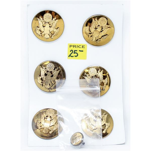 ASSORTED MILITARY BRASS BUTTONS